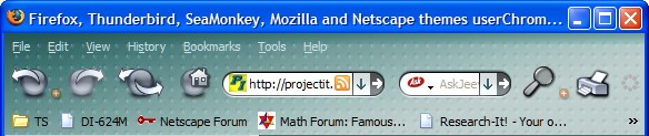 Firefox, Thunderbird, SeaMonkey, Mozilla and Netscape themes